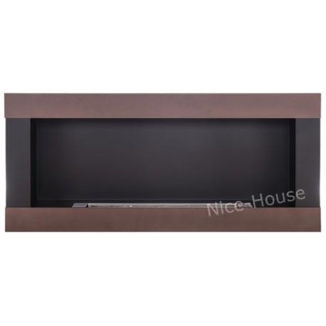 Biokominek Nice-House H-Line brązowy 90x40cm