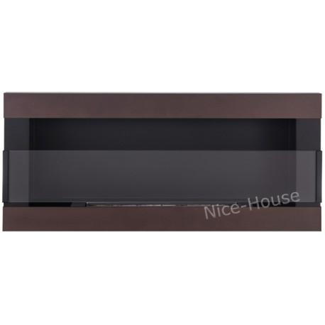 Biokominek Nice-House H-Line brązowy 90x40cm z szybą