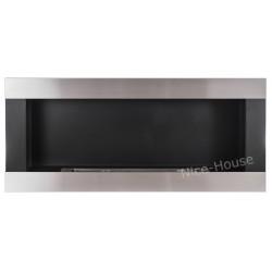 Biokominek Nice-House H-Line inox 90x40cm