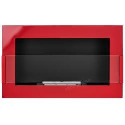 Biokominek Nice-House czerwony połysk 65x40cm z szybą