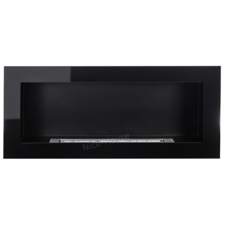 Biokominek Nice-House czarny połysk 90x40cm