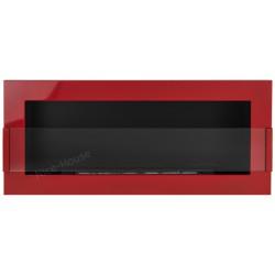 Biokominek Nice-House czerwony połysk 90x40cm z szybą