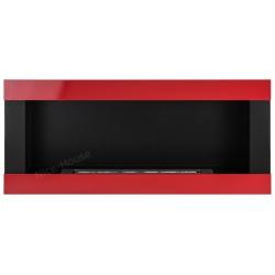 Biokominek Nice-House H-Line czerwony  90x40cm