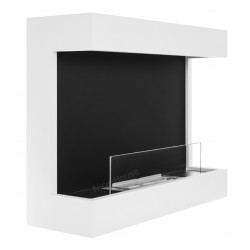 Biokominek Nice-House biały cava 60x48cm z szybą